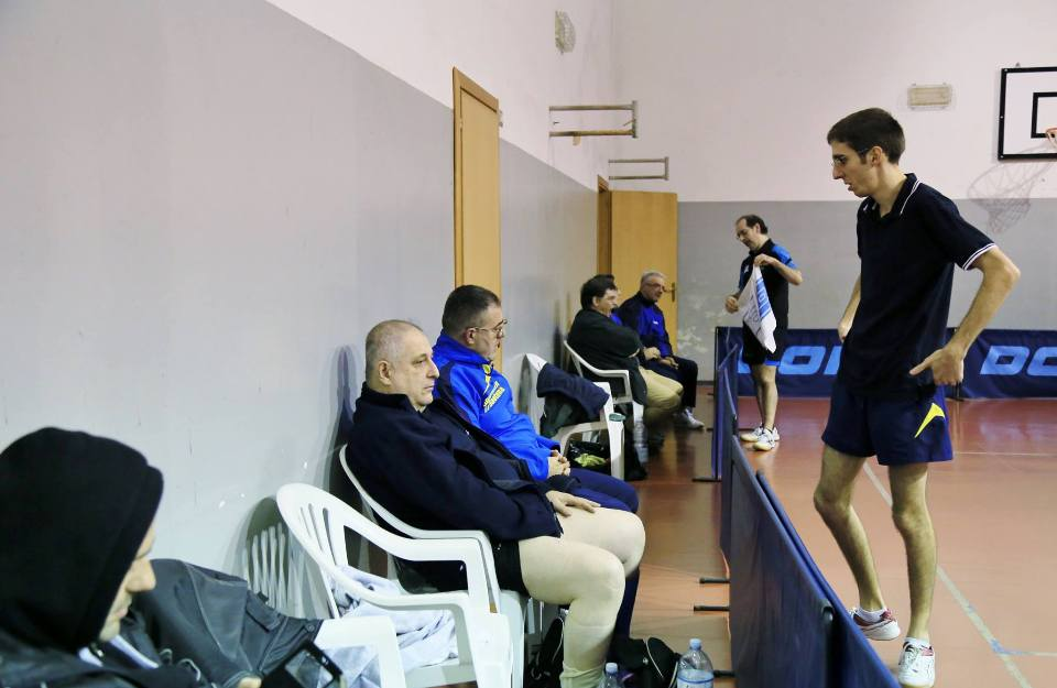 Durante un time out (Foto Tomaso Fenu)